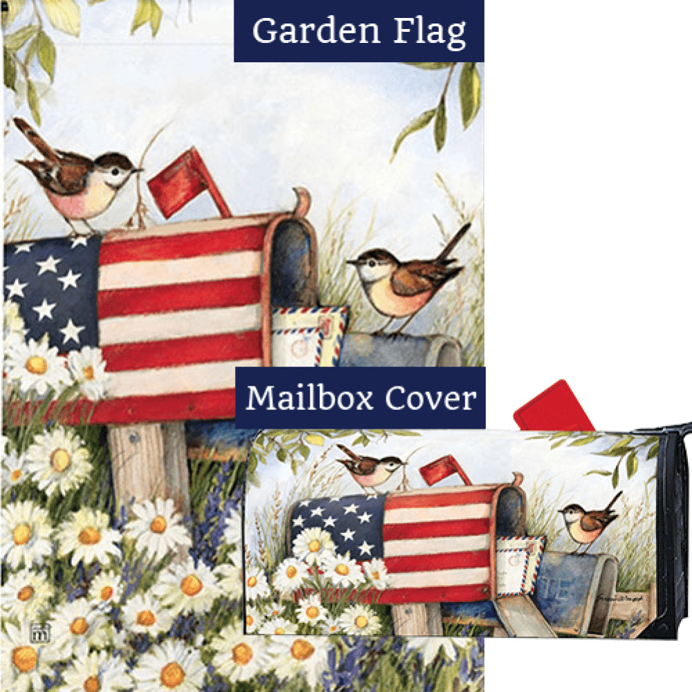 Patriotic Mailbox Flag Mailwrap Set (2 Pieces)