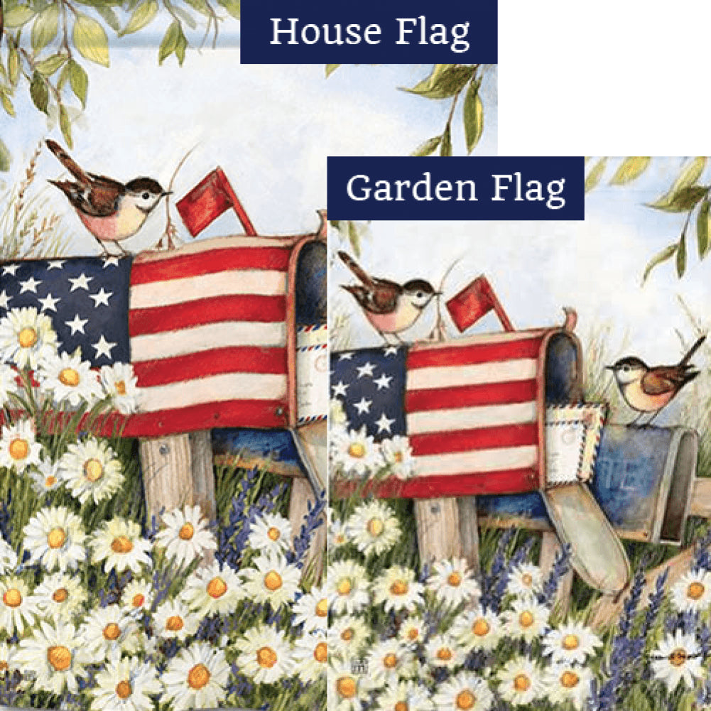 Patriotic Mailbox Flags Set (2 Pieces)