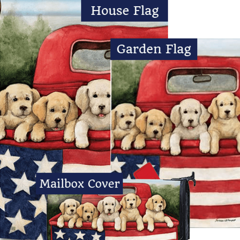 Patriotic Puppies Red Truck Yard Makeover Set (3 Pieces)