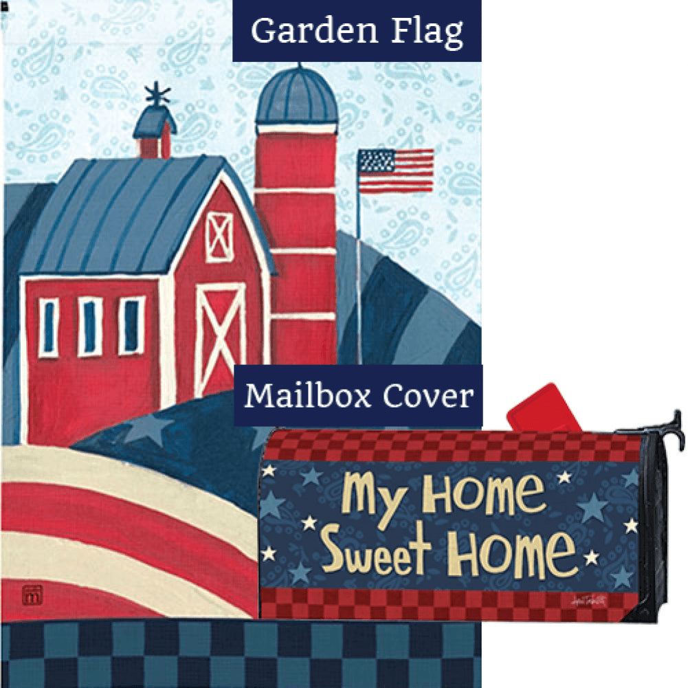 American Barn Flag Mailwrap Set (2 Pieces)