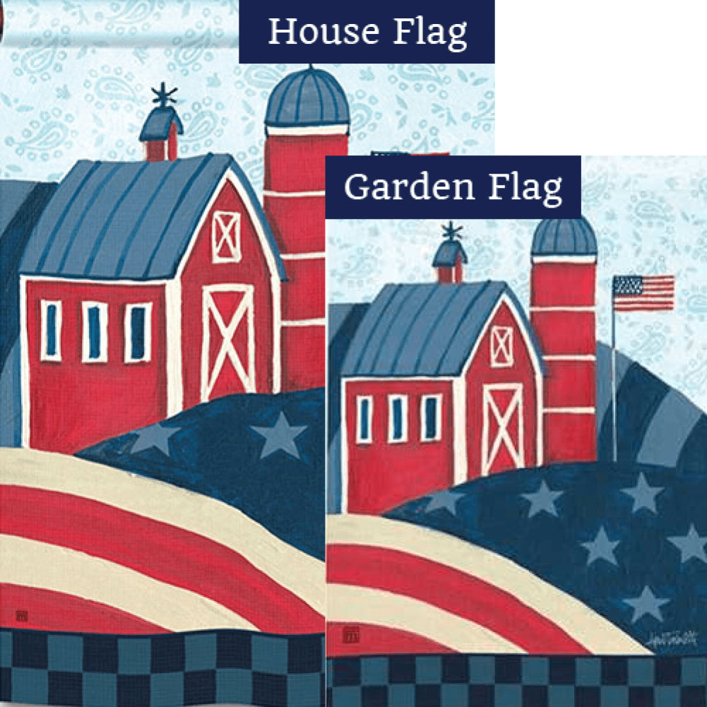 American Barn Flags Set (2 Pieces)