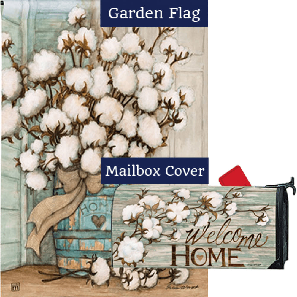 Cotton Bolls Flag Mailwrap Set (2 Pieces)