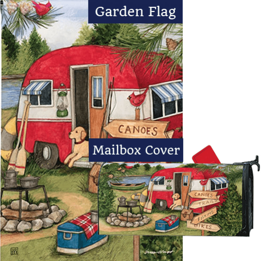 Camping Weekend Flag Mailwrap Set (2 Pieces)