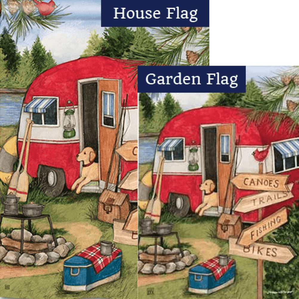 Camping Weekend Flags Set (2 Pieces)