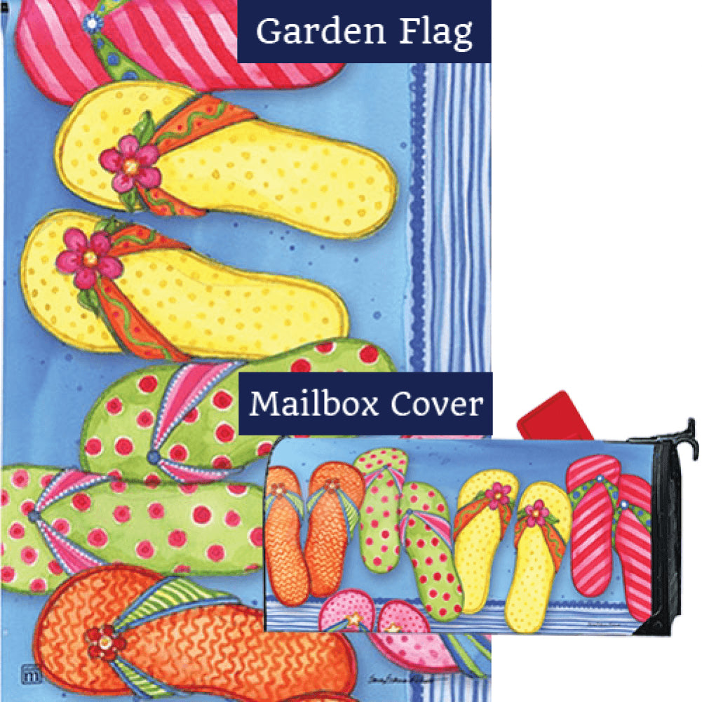 Favorite Flip Flops Flag Mailwrap Set (2 Pieces)