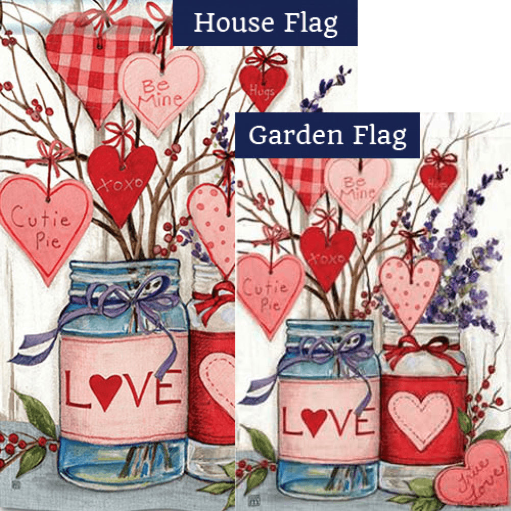 Filled With Love Flags Set (2 Pieces)