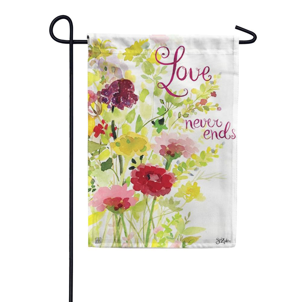 Love Never Ends Garden Flag