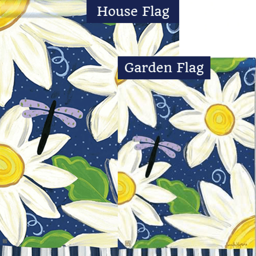 Daisy Blues Flags Set (2 Pieces)