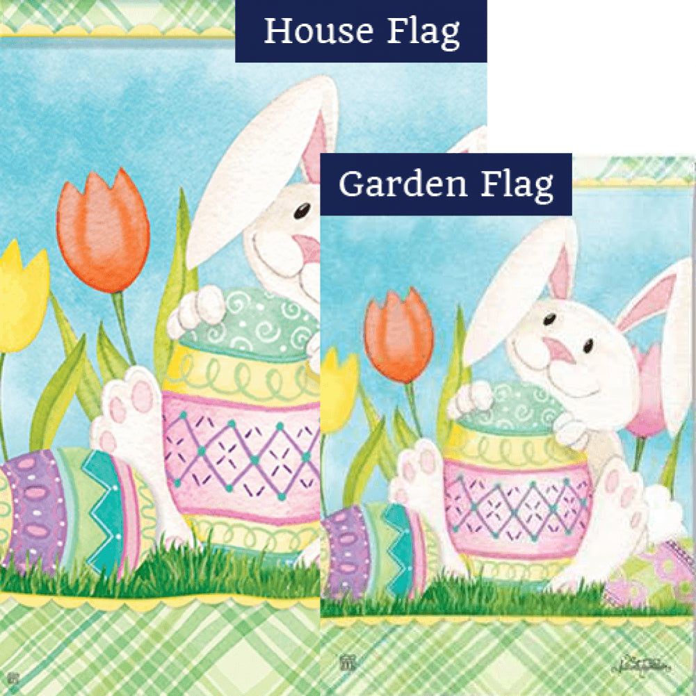 Easter Bunny's Here Flags Set (2 Pieces)
