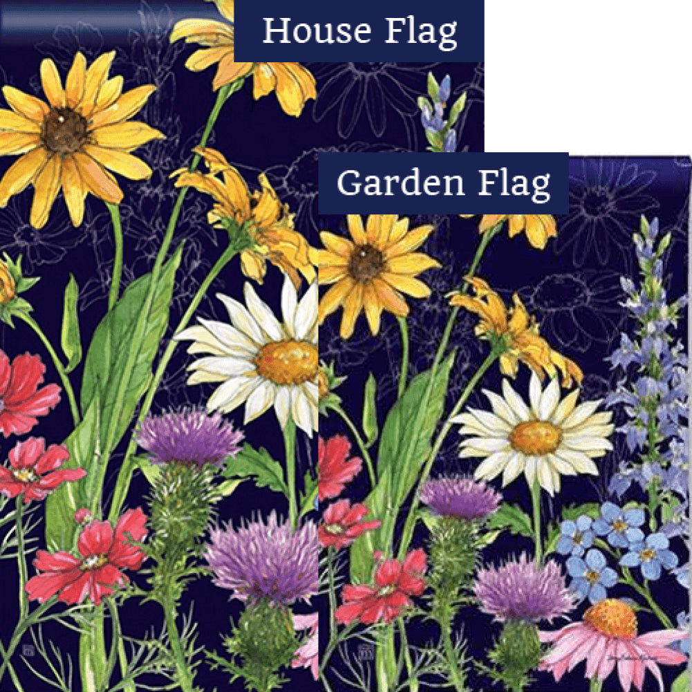 Wildflower Mix Flags Set (2 Pieces)