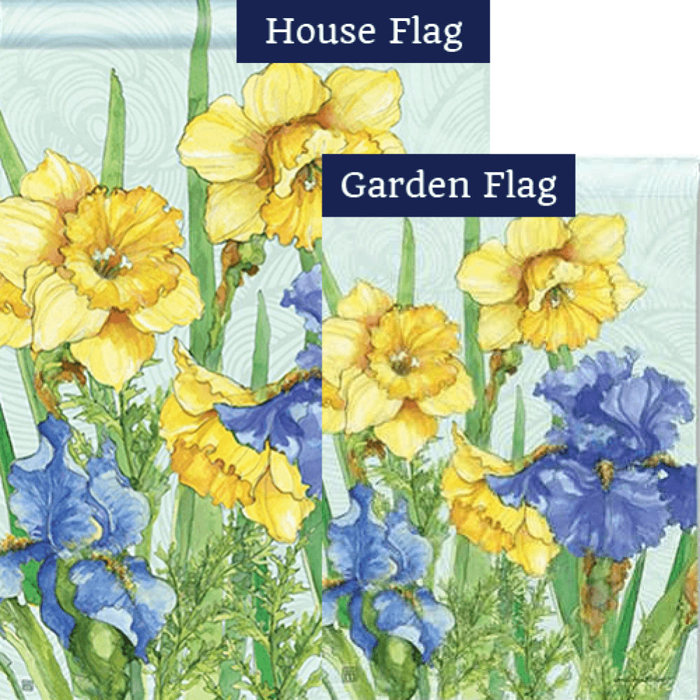 Daffodils and Irises Flags Set (2 Pieces)