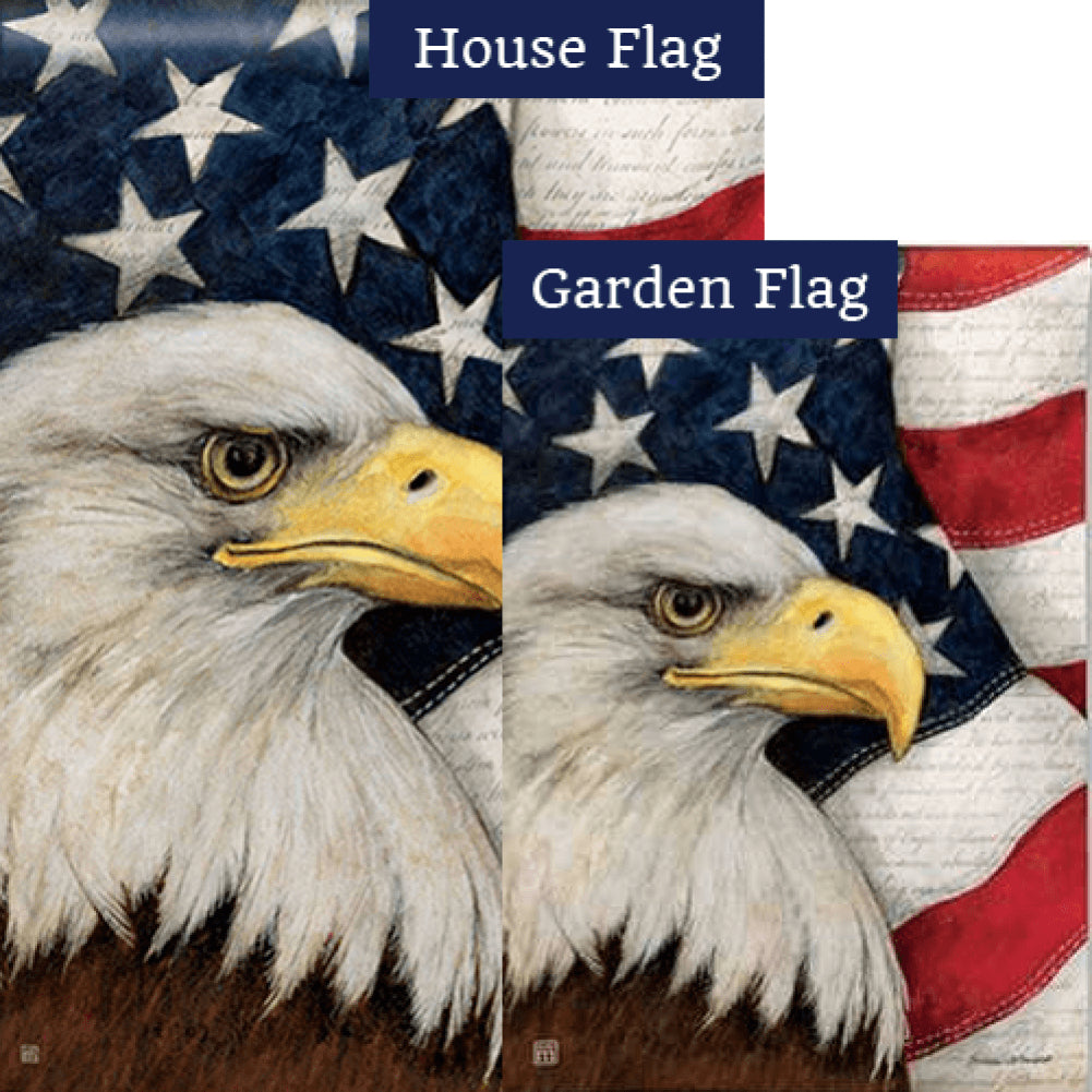 American Eagle Flags Set (2 Pieces)