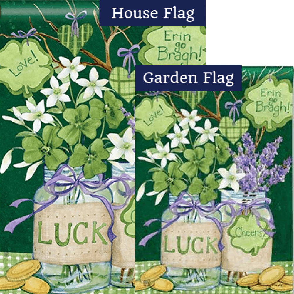Lucky Shamrocks Mason Jar Flags Set (2 Pieces)