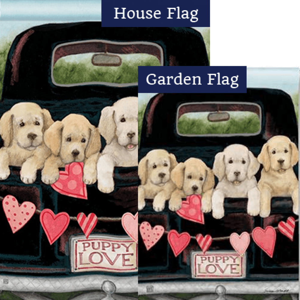 Puppy Love Flags Set (2 Pieces)