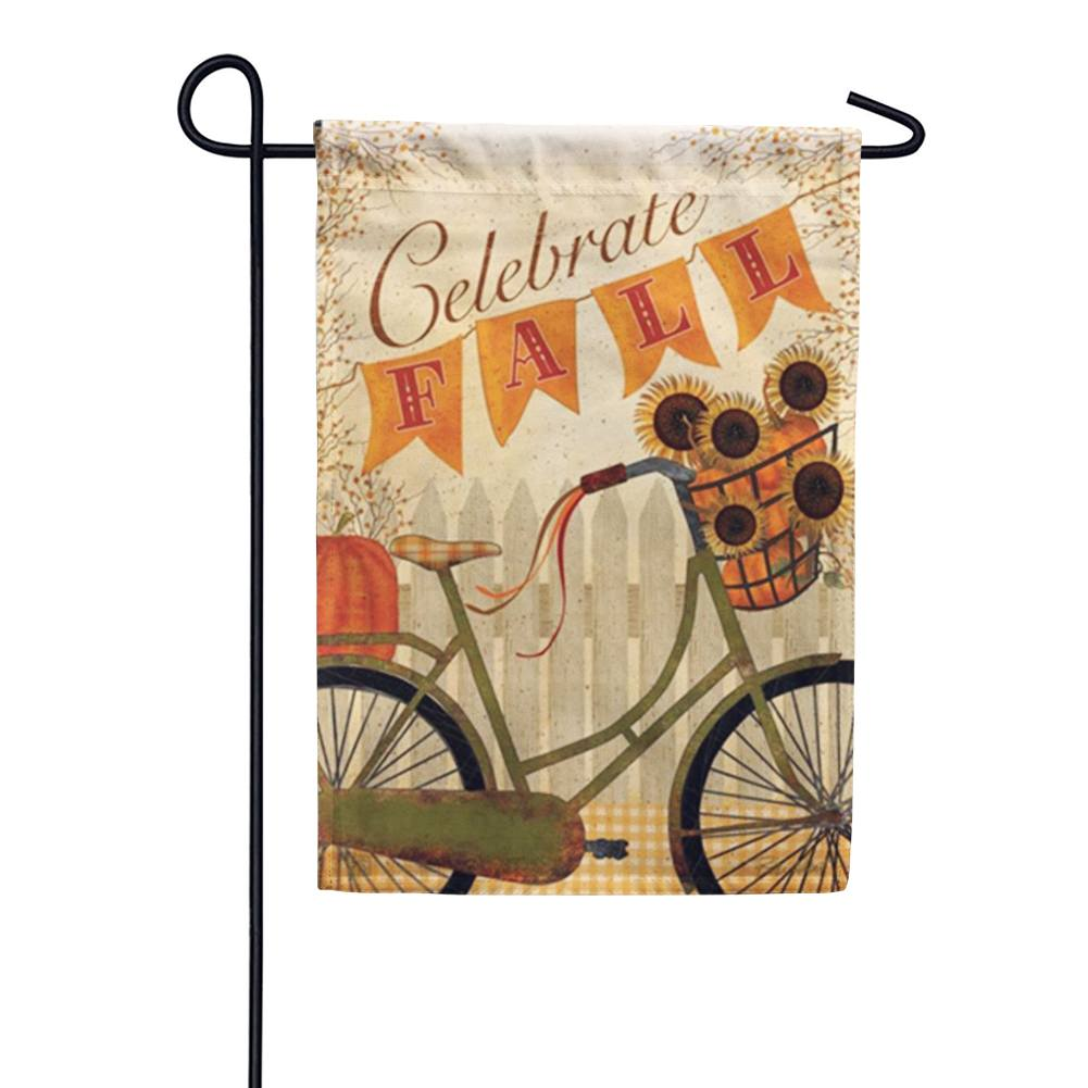 Celebrate Fall Bicycle Garden Flag