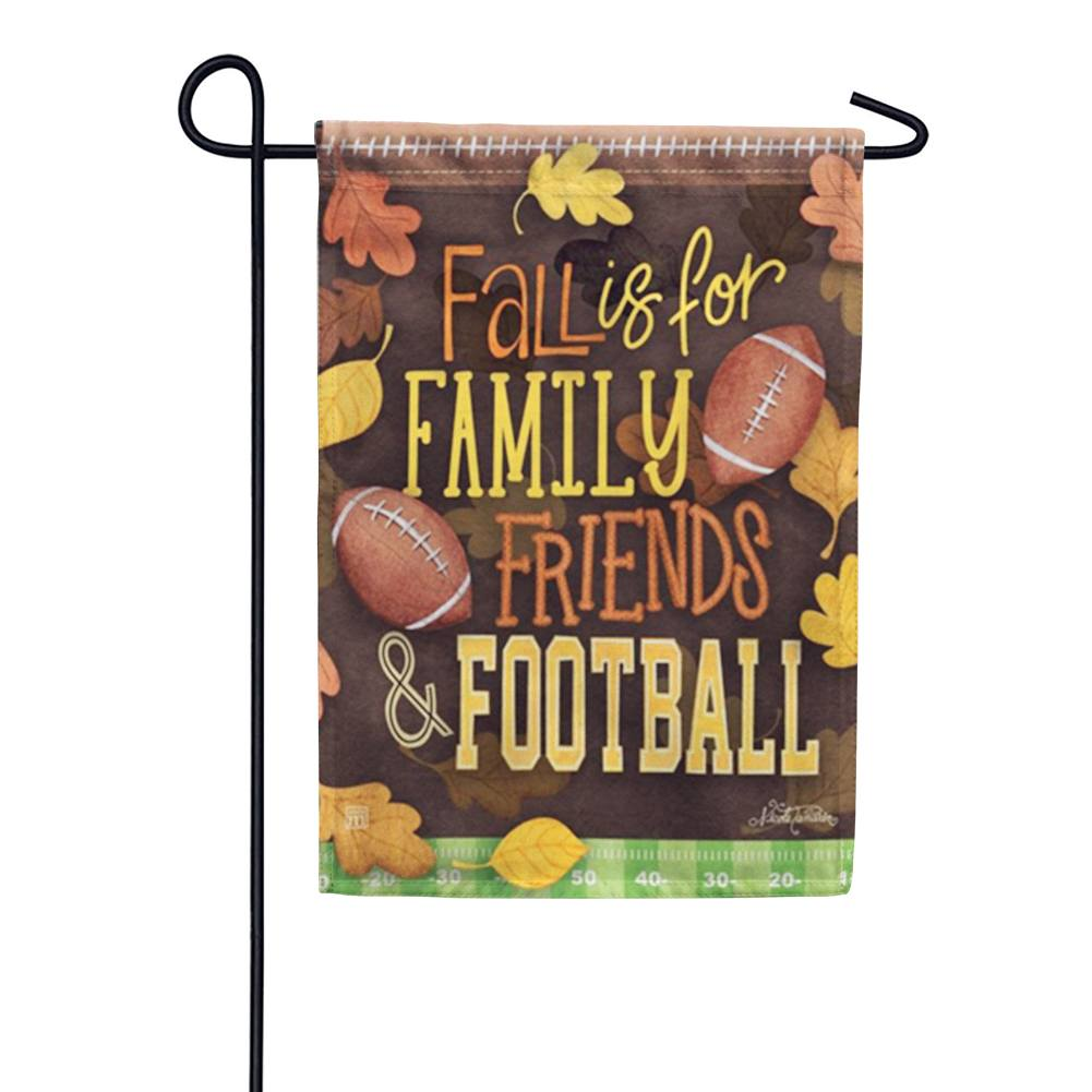 Fall Favorites Football Garden Flag