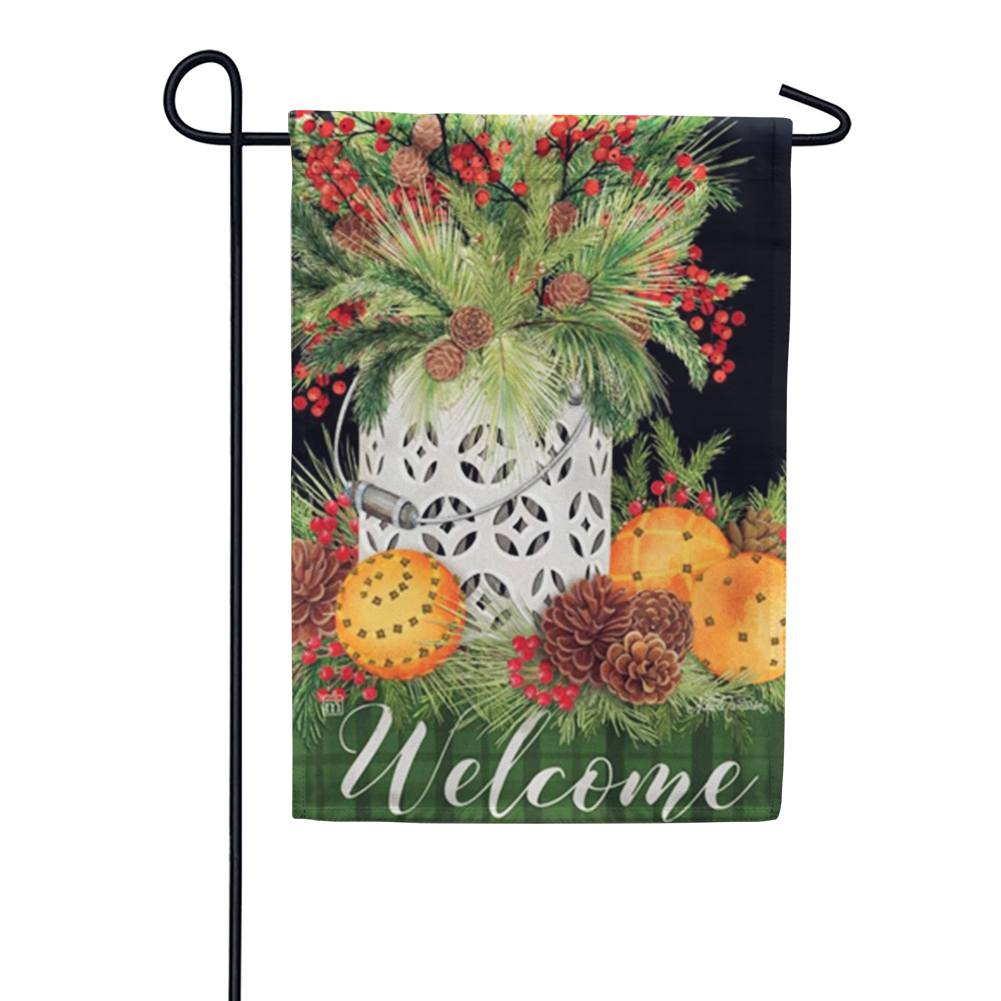 Spiced Oranges Garden Flag