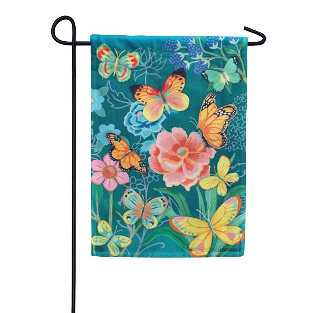 Colorful Butterflies Garden Flag