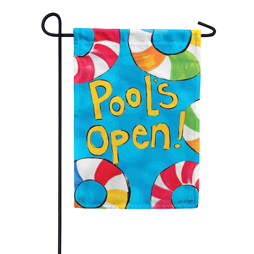 Magnet Works Pool's Open Garden Flag