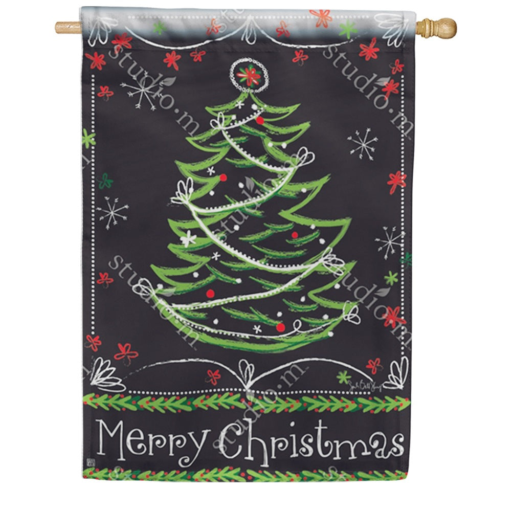 Blackboard Christmas Double Sided House Flag
