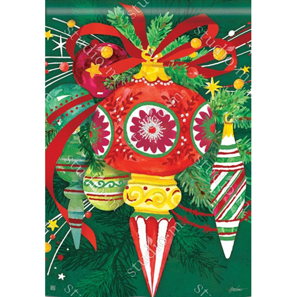 Merry and Bright House Flag