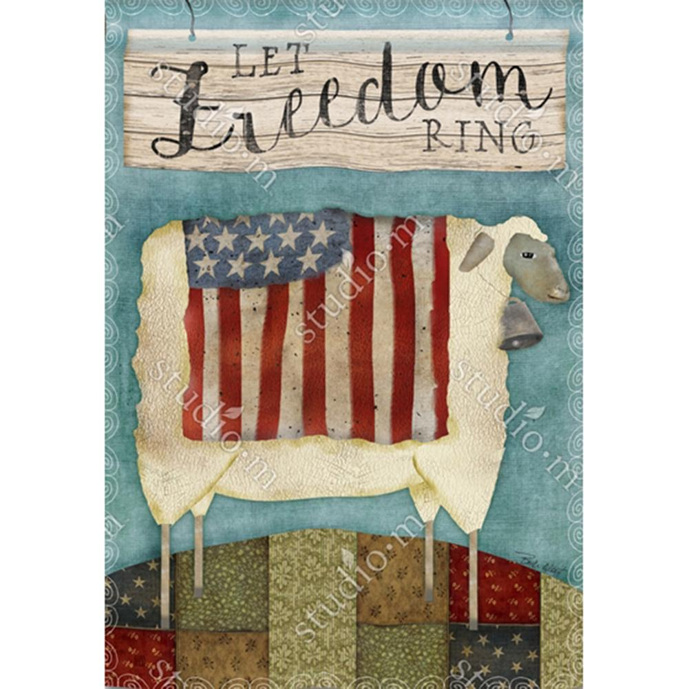 Freedom Sheep House Flag