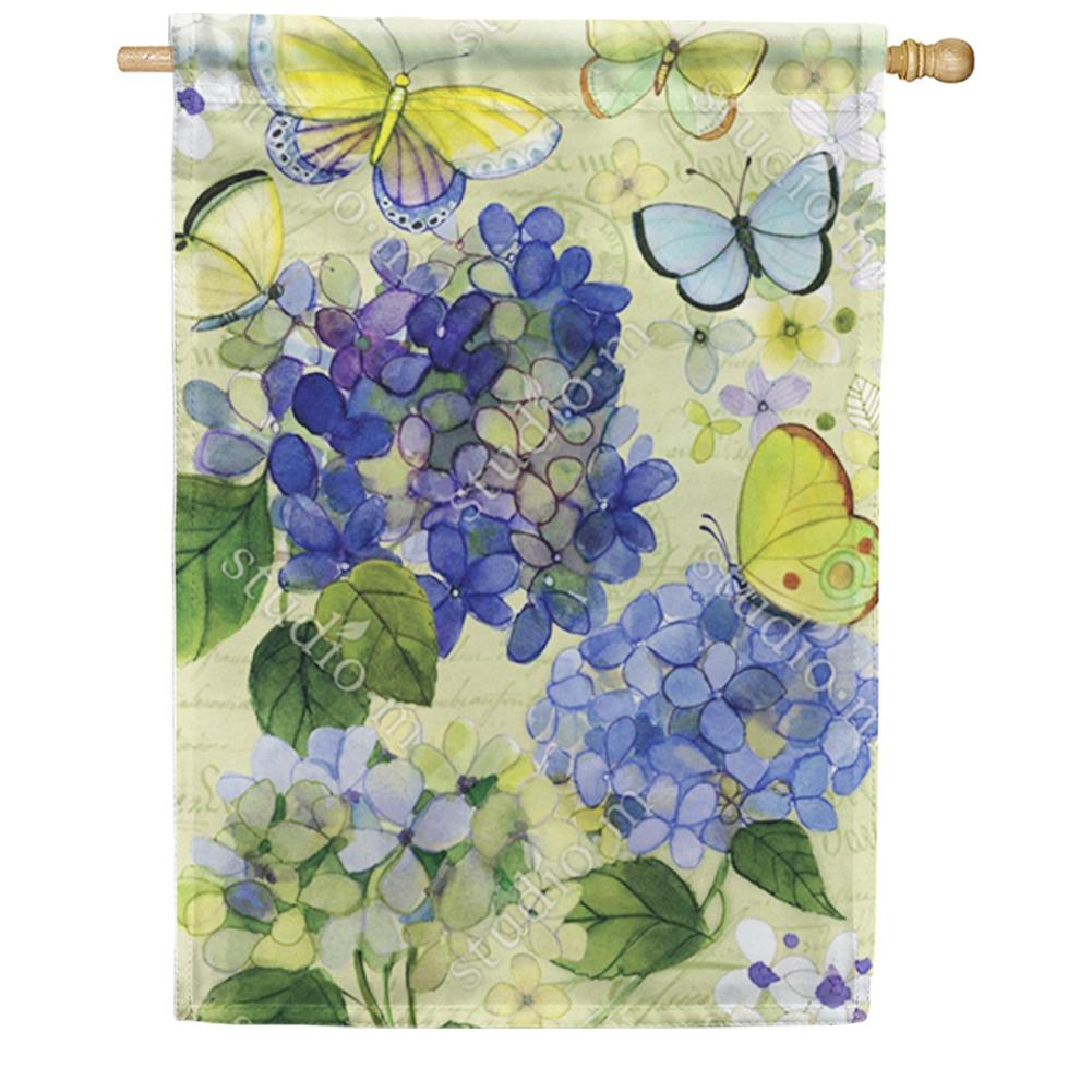 Hydrangea Beauties Double Sided House Flag