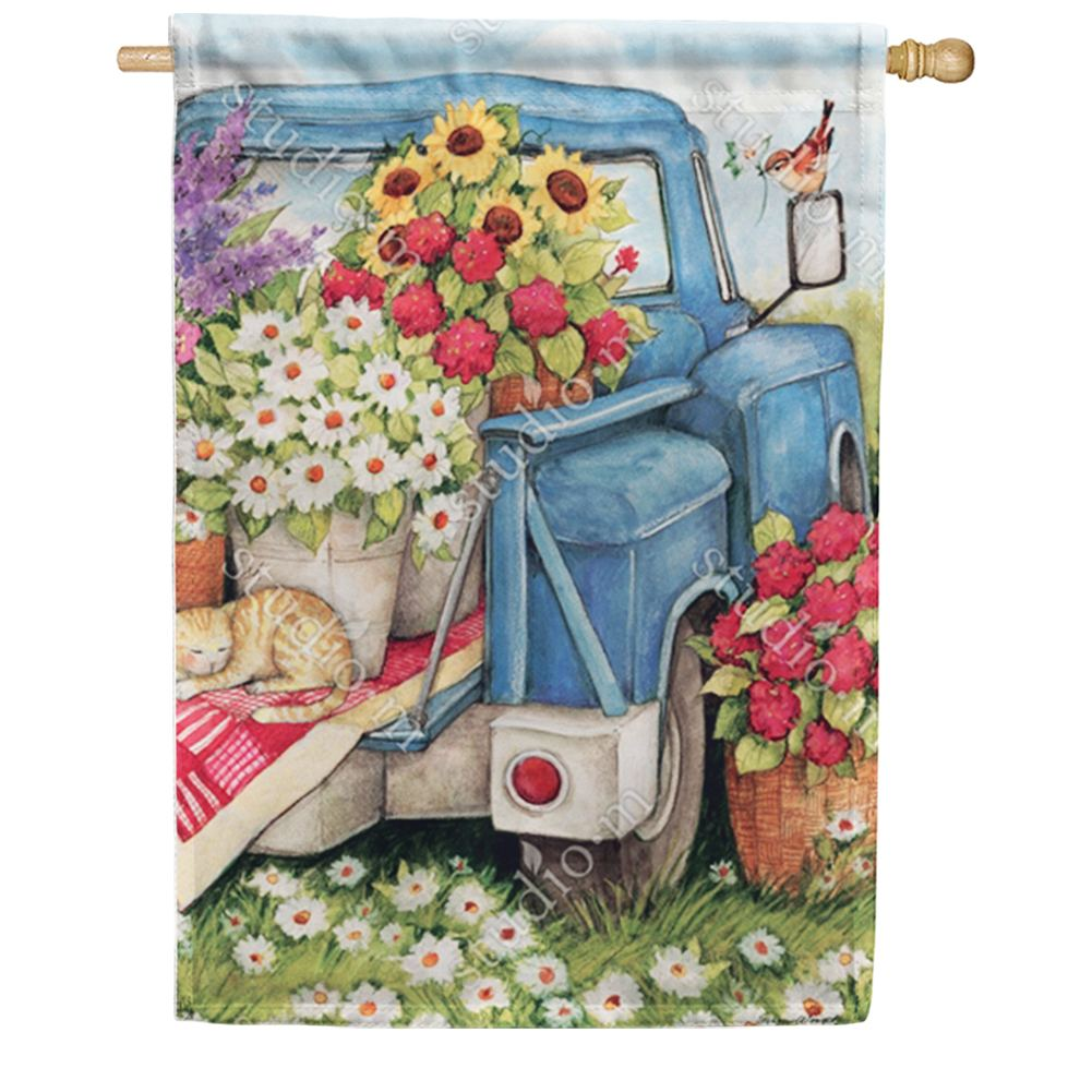 Flower Pickin' Time Double Sided House Flag