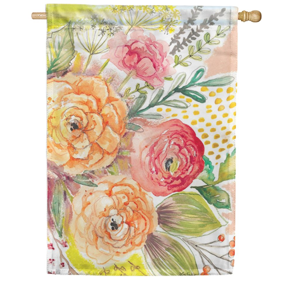 Fresh Flowers House Flag