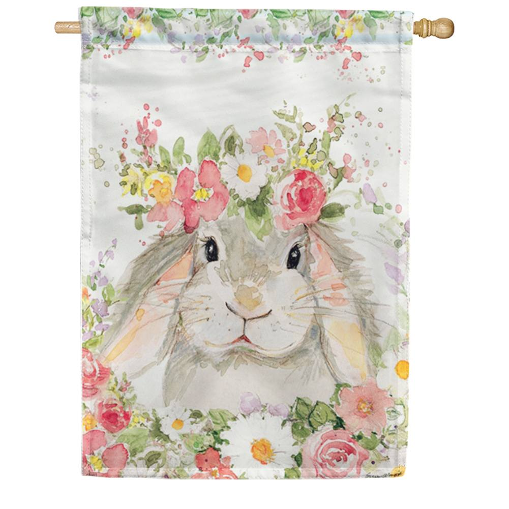 Hello Bunny House Flag