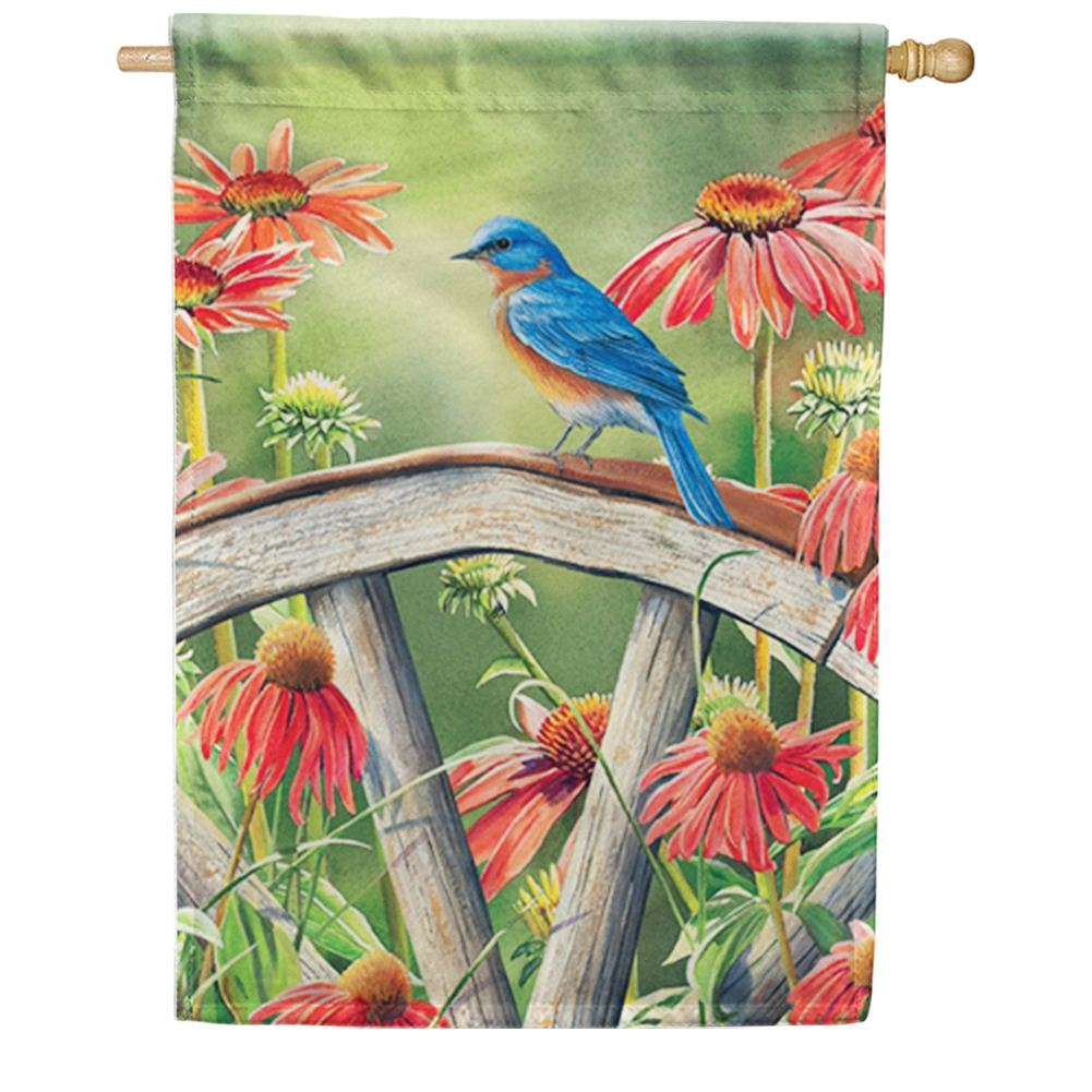 Bluebird Visit House Flag