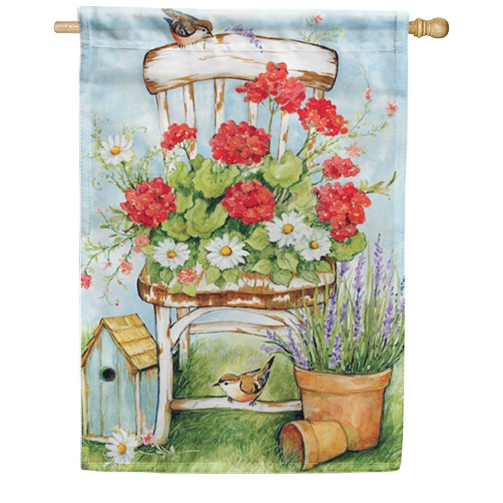 Summer Garden House Flag