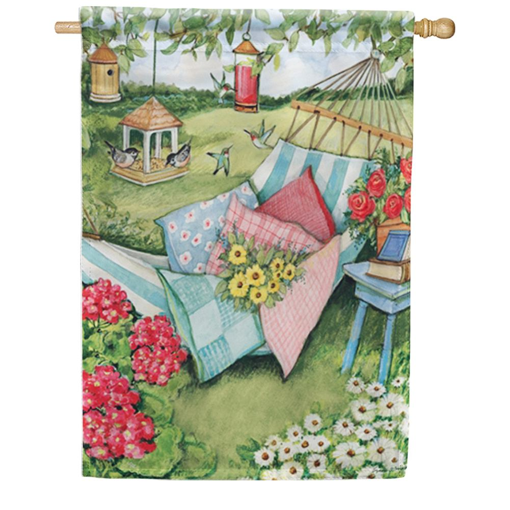Garden Hammock House Flag