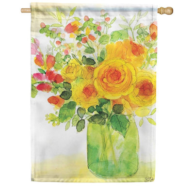 Yellow Roses House Flag