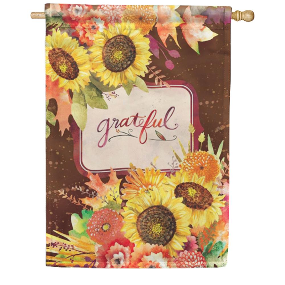 Grateful Bouquet House Flag