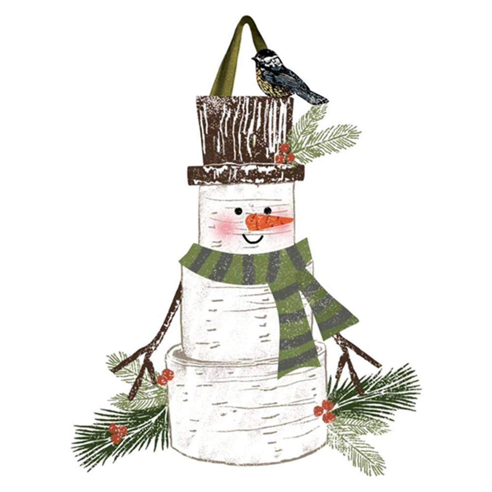 Woodsy Snowman Friend Door Decor