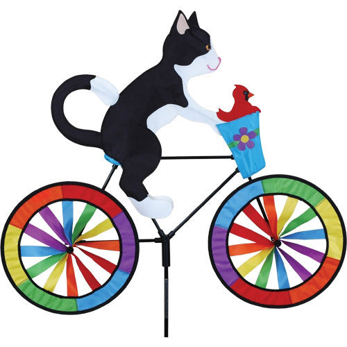 Tuxedo Cat Bicycle Spinner