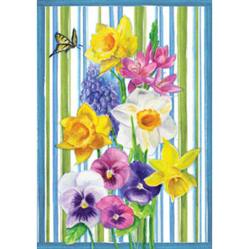 Spring Bouquet Illuminated Garden Flag