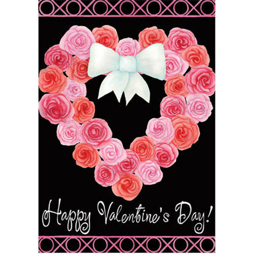 Valentine Wreath Double Sided PremierSoft Garden Flag