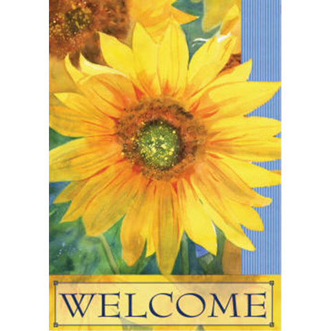 Welcome Sunshine Double Sided PremierSoft Garden Flag
