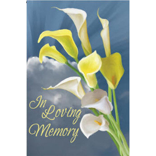 In Loving Memory Illuminated Garden Flag
