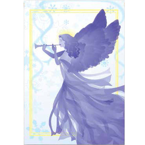 Snow Angel Illuminated Garden Flag