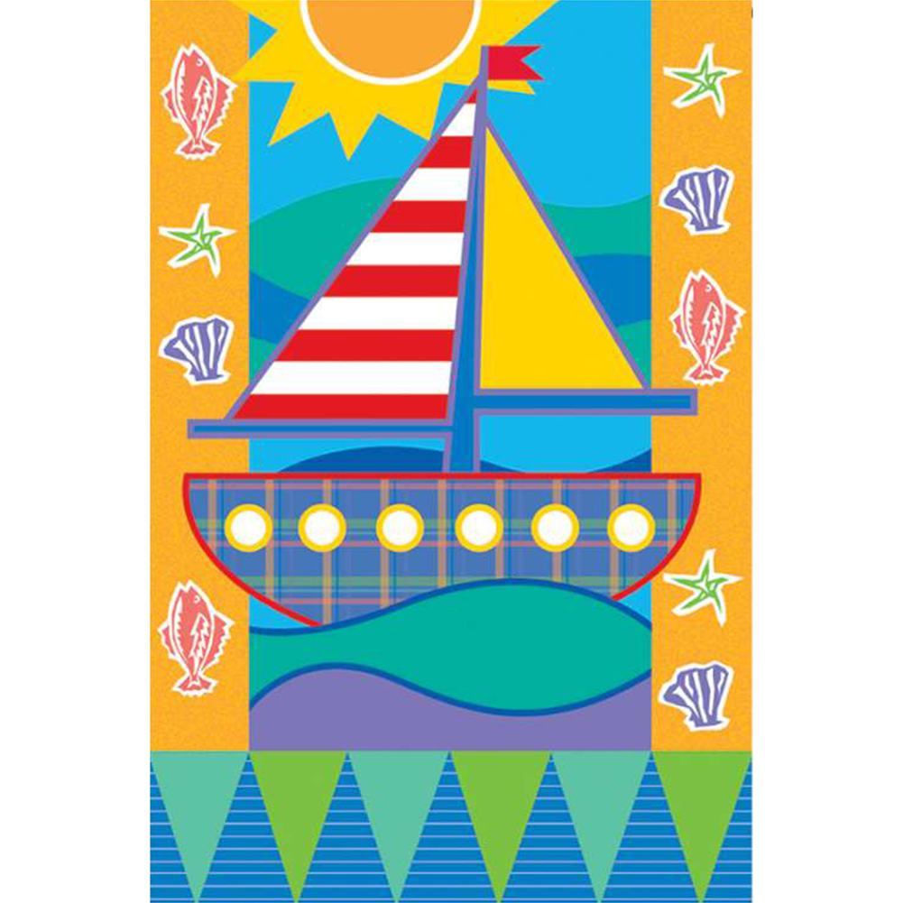 Seashore Brilliance Garden Flag