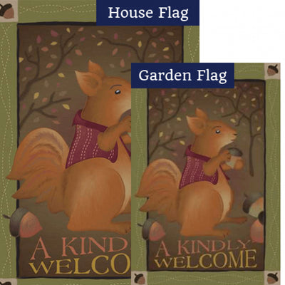 A Kindly Welcome Brilliance Flags Set (2 Pieces)