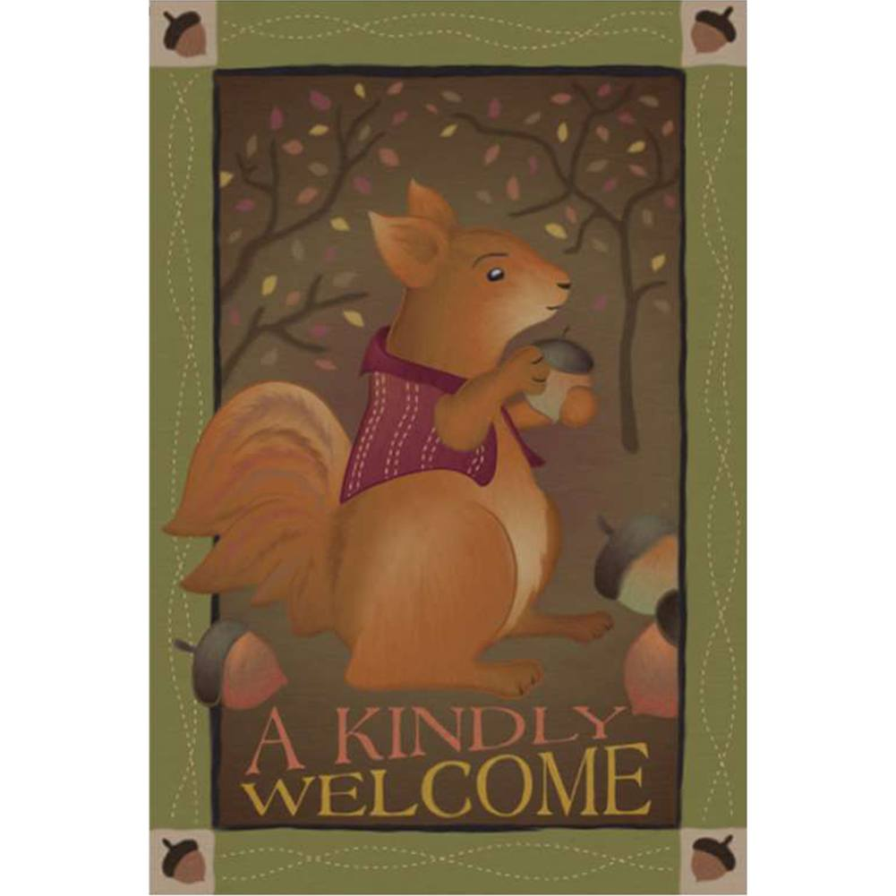 A Kindly Welcome Brilliance Garden Flag