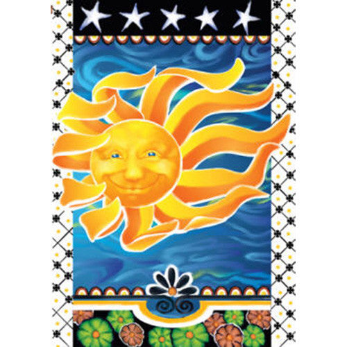 Radiant Sun Illuminated Garden Flag