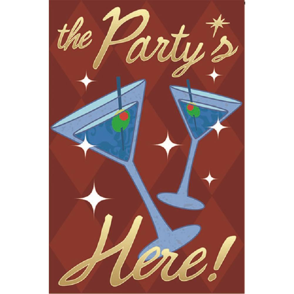 Party's Here Brilliance Garden Flag