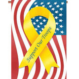 Support Troops Garden Flag