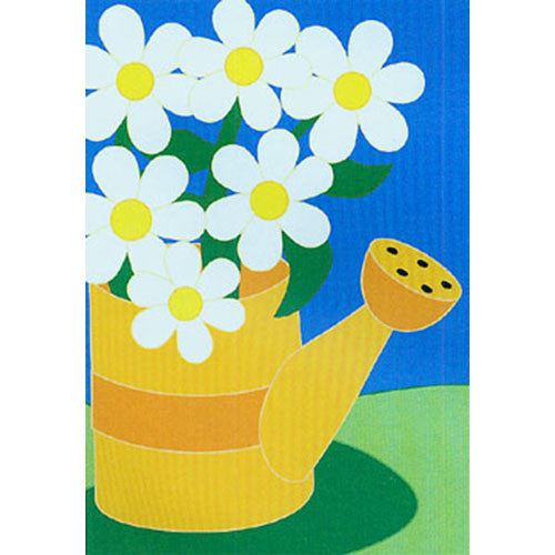 Summer Daisies Appliqued House Flag