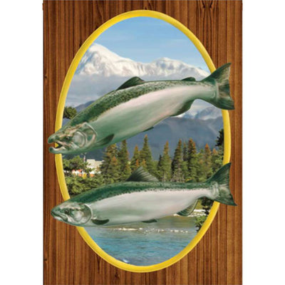 Chinook Salmon Brilliance House Flag
